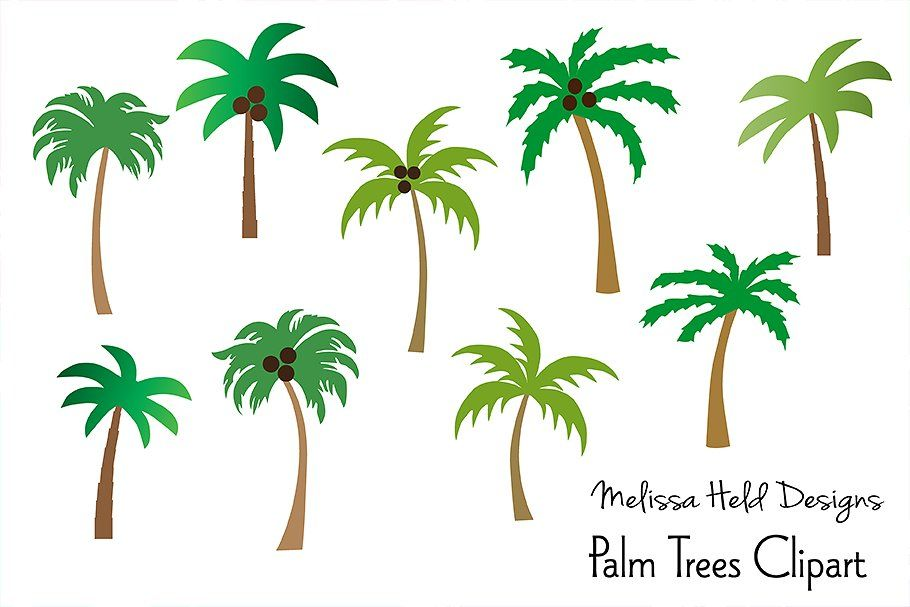 Palm Trees Clipart By Melissa Held Designs Thehungryjpeg Com