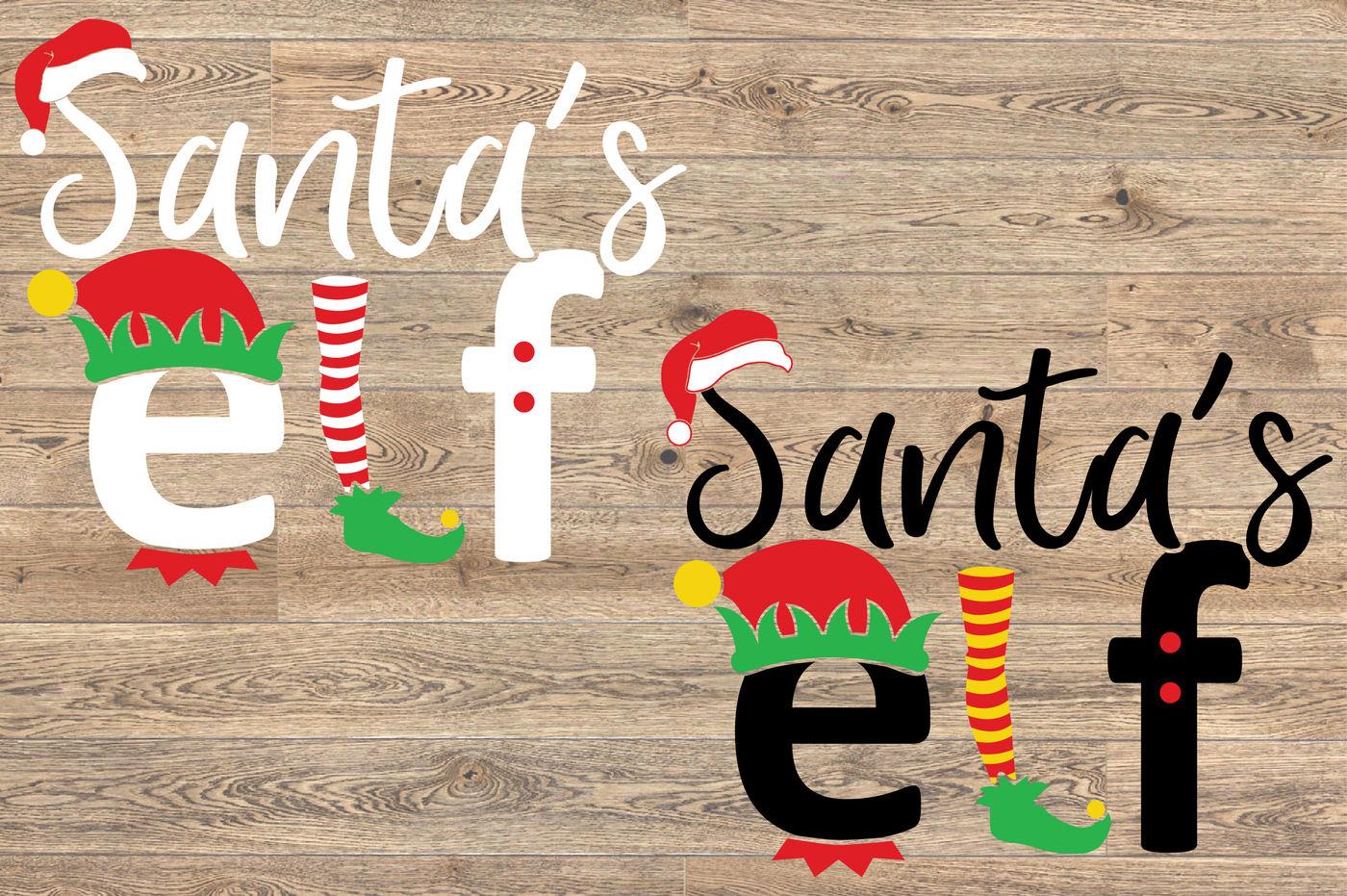 Santa S Elf Svg Family Christmas Santa Hat Svg 1098s By Hamhamart
