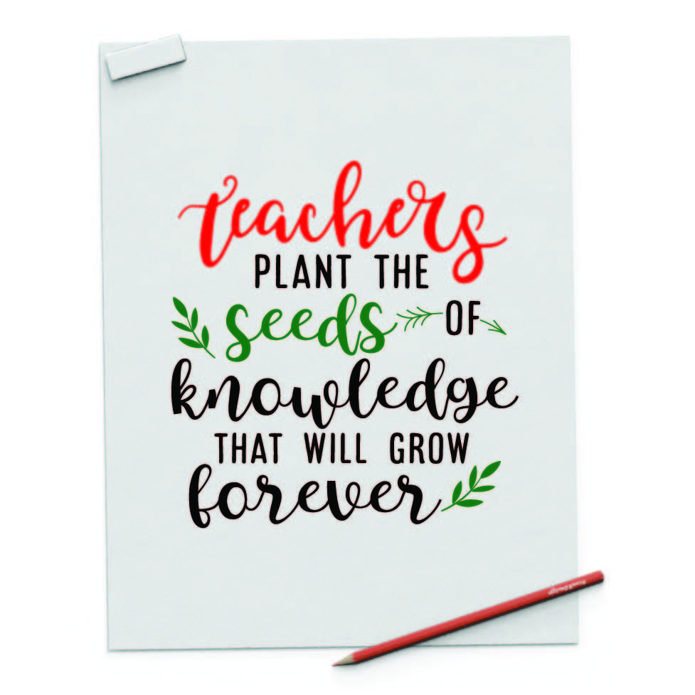Teachers Plant The Seeds Of Knowledge By Spoonyprint