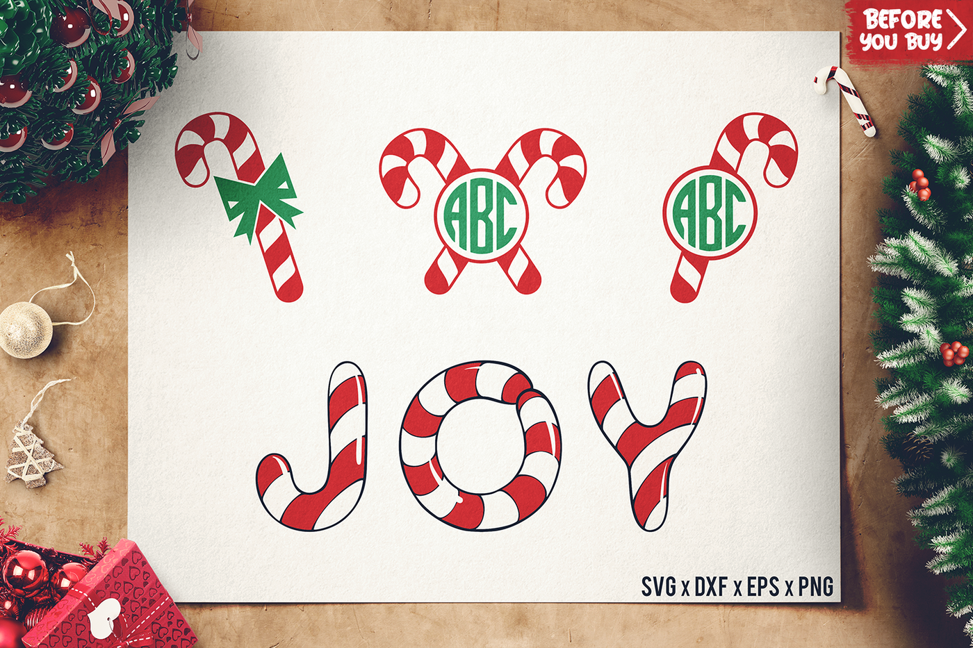 Christmas Candy Cane Svg Candy Cane Monogram Svg By Sharpsvg