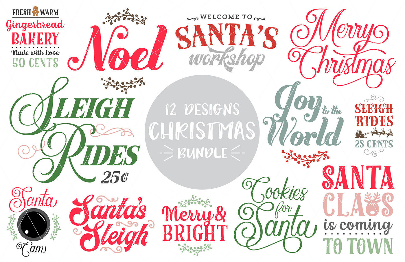 Christmas Quotes Svg Dxf Png Bundle 12 Designs By Svgbundlesco