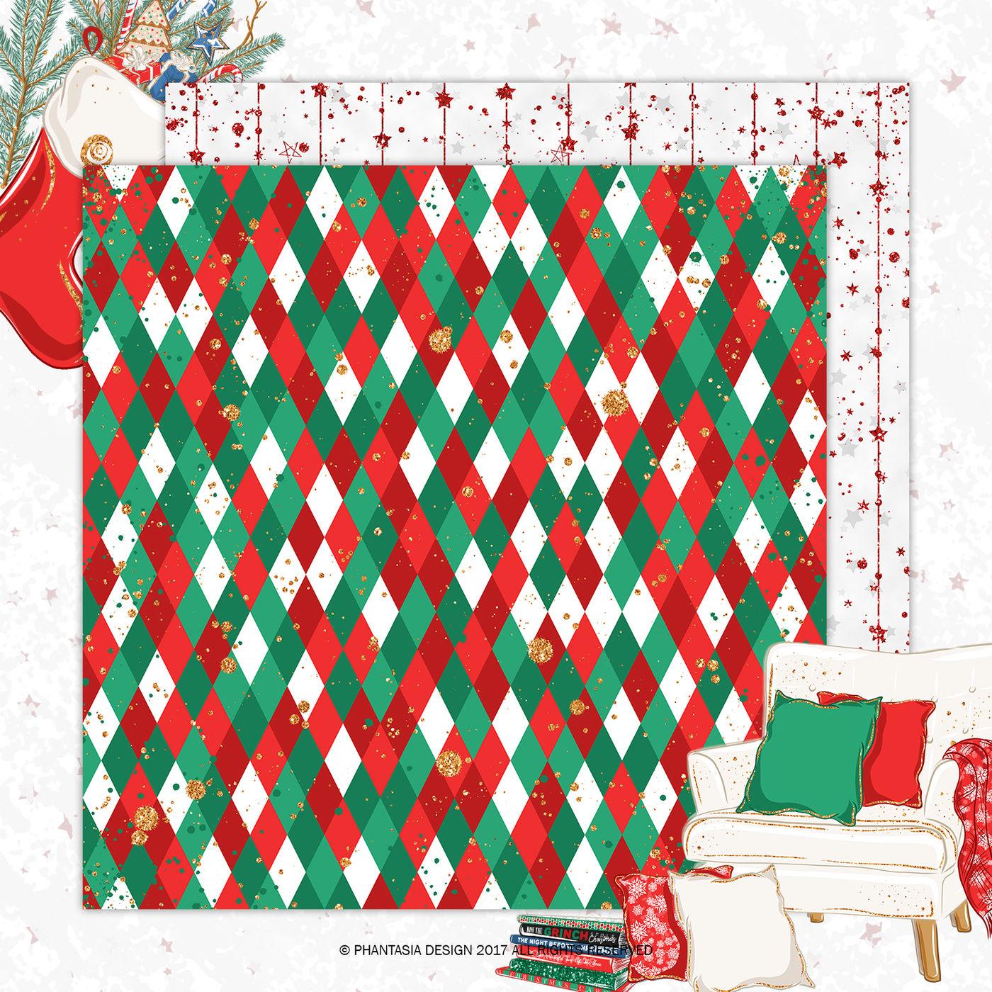 Christmas Digital Paper Pack By Phantasiadesign Thehungryjpeg Com