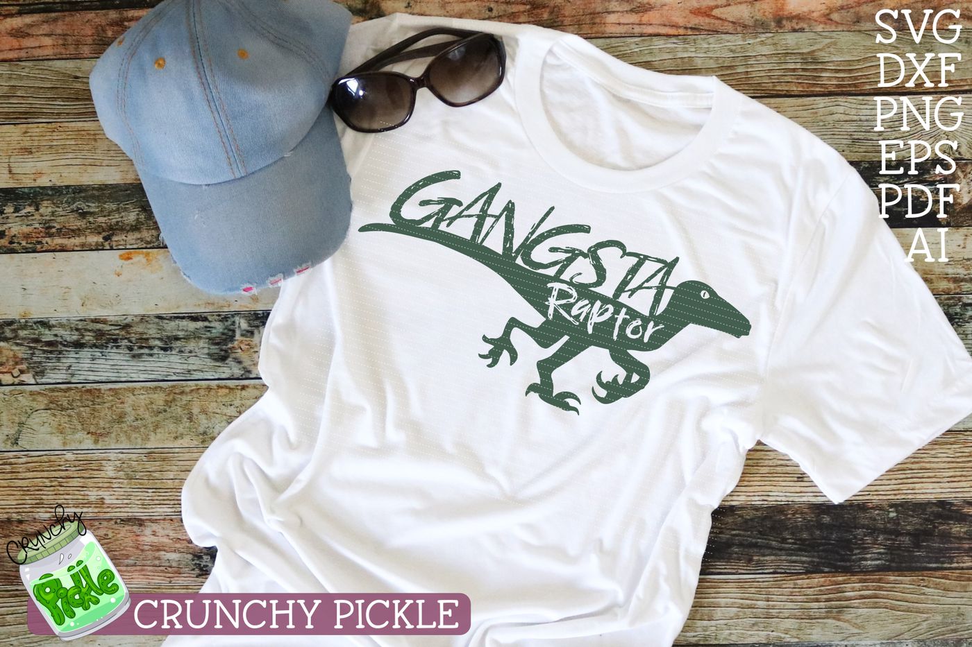 Gangsta Raptor Dinosaur Svg By Crunchy Pickle Thehungryjpeg Com
