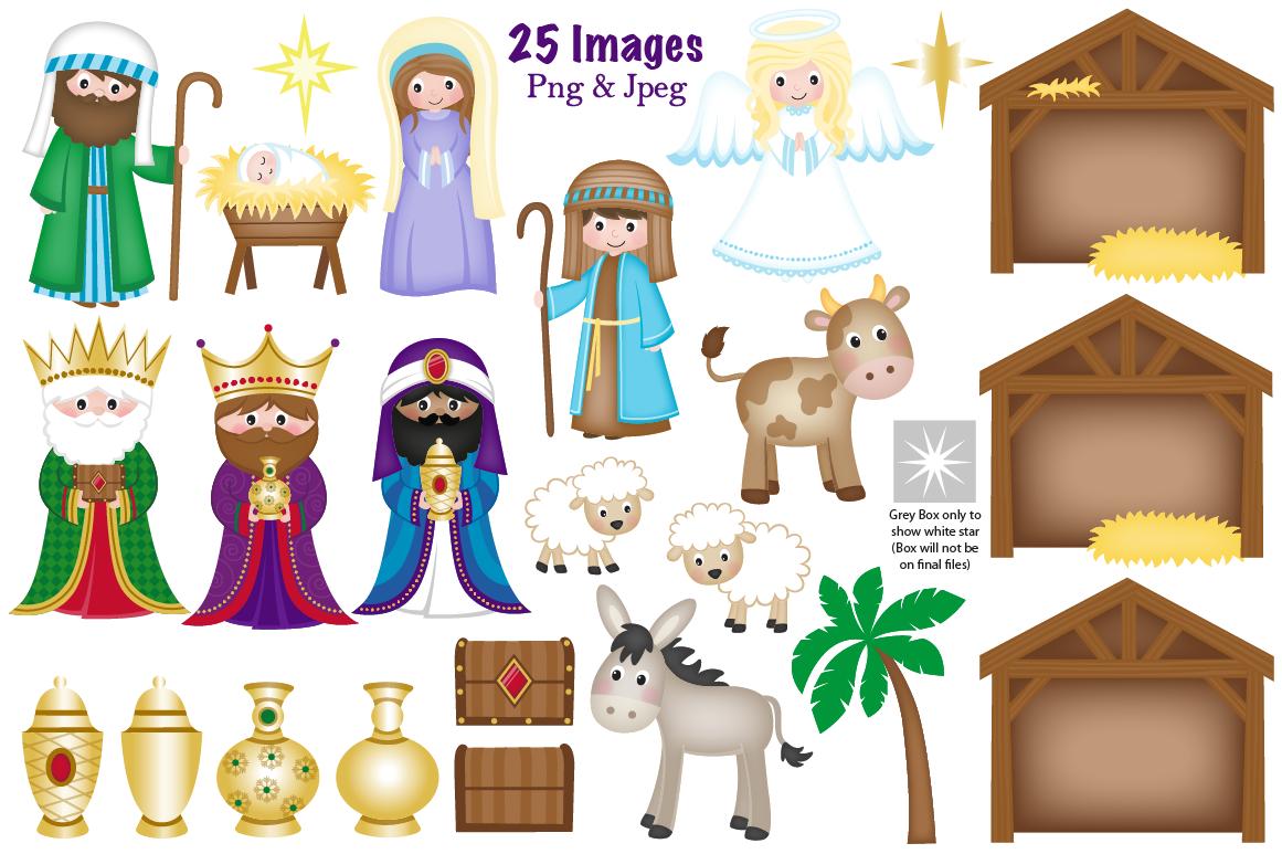 Christmas Nativity clipart, Nativity scene graphics ...