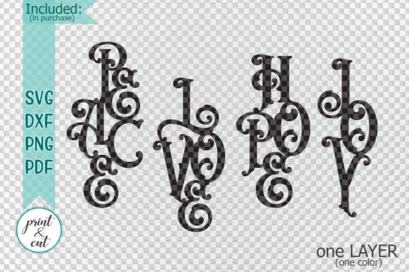 Hanging Ornaments Peace Love Joy Hope Svg Paper Laser Cutting By