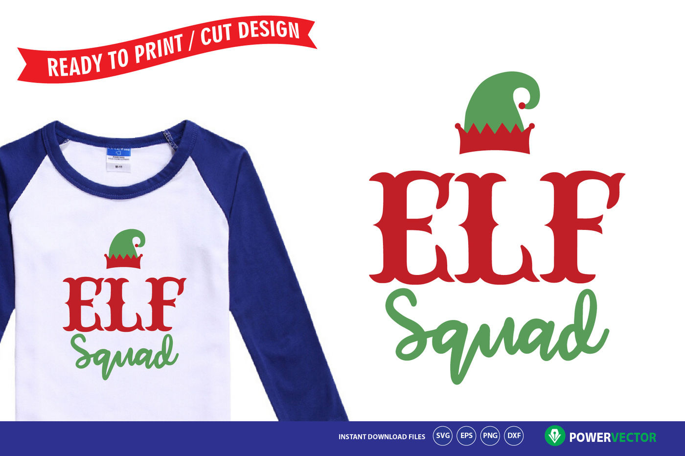 Elf Squad Svg Christmas T Shirt Design For Kids By Powervector