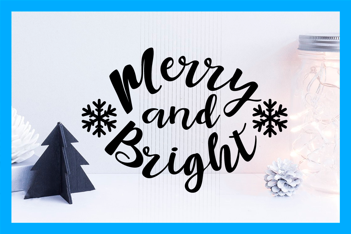 Christmas Svg Cut File Merry And Bright By Big Design