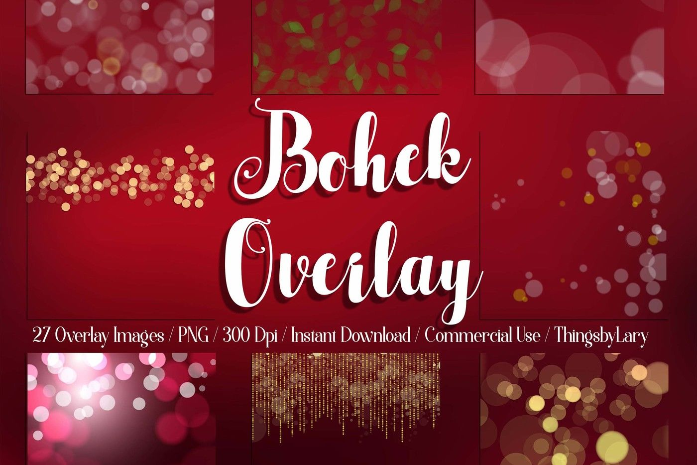 27 Bokeh Overlay Christmas Valentine Bokeh Digital Images By