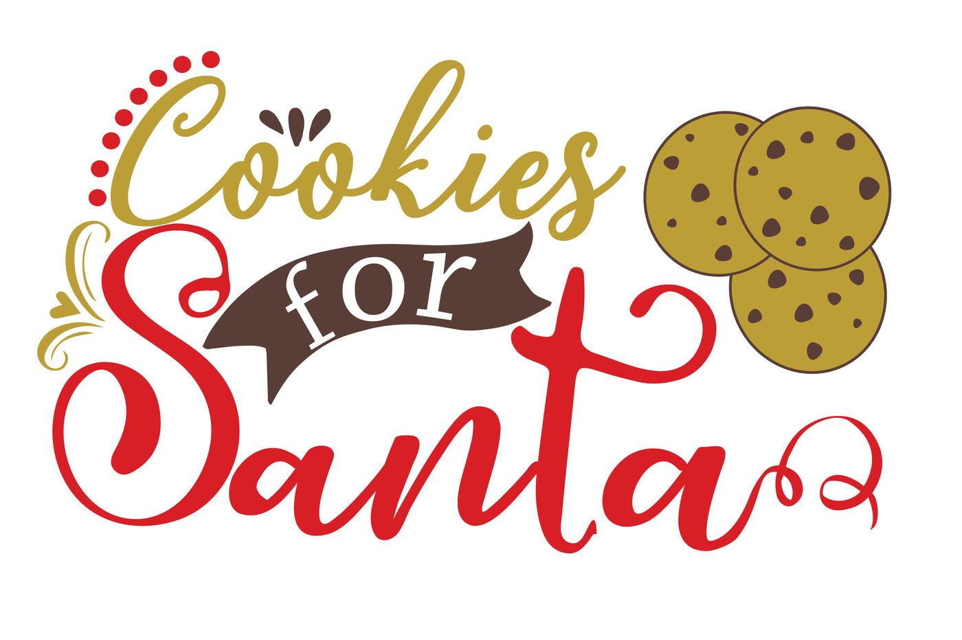 Cookies For Santa Svg The Giving Plate Svg Christmas 1105s By Hamhamart Thehungryjpeg Com