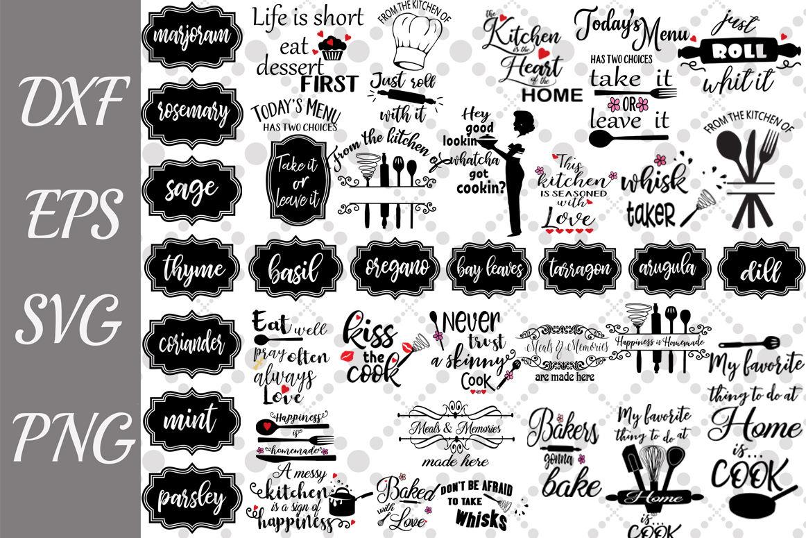 Kitchen Svg Bundle Kitchen Label Svg Kitchen Quotes Svg By