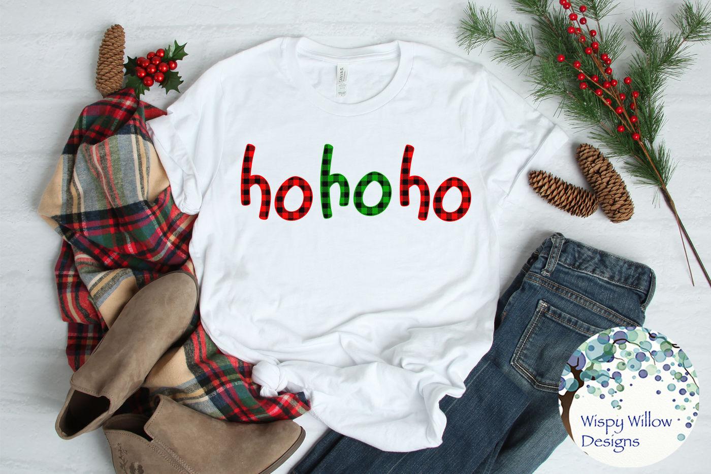 Ho Ho Ho Christmas Buffalo Plaid Svg By Wispy Willow Designs