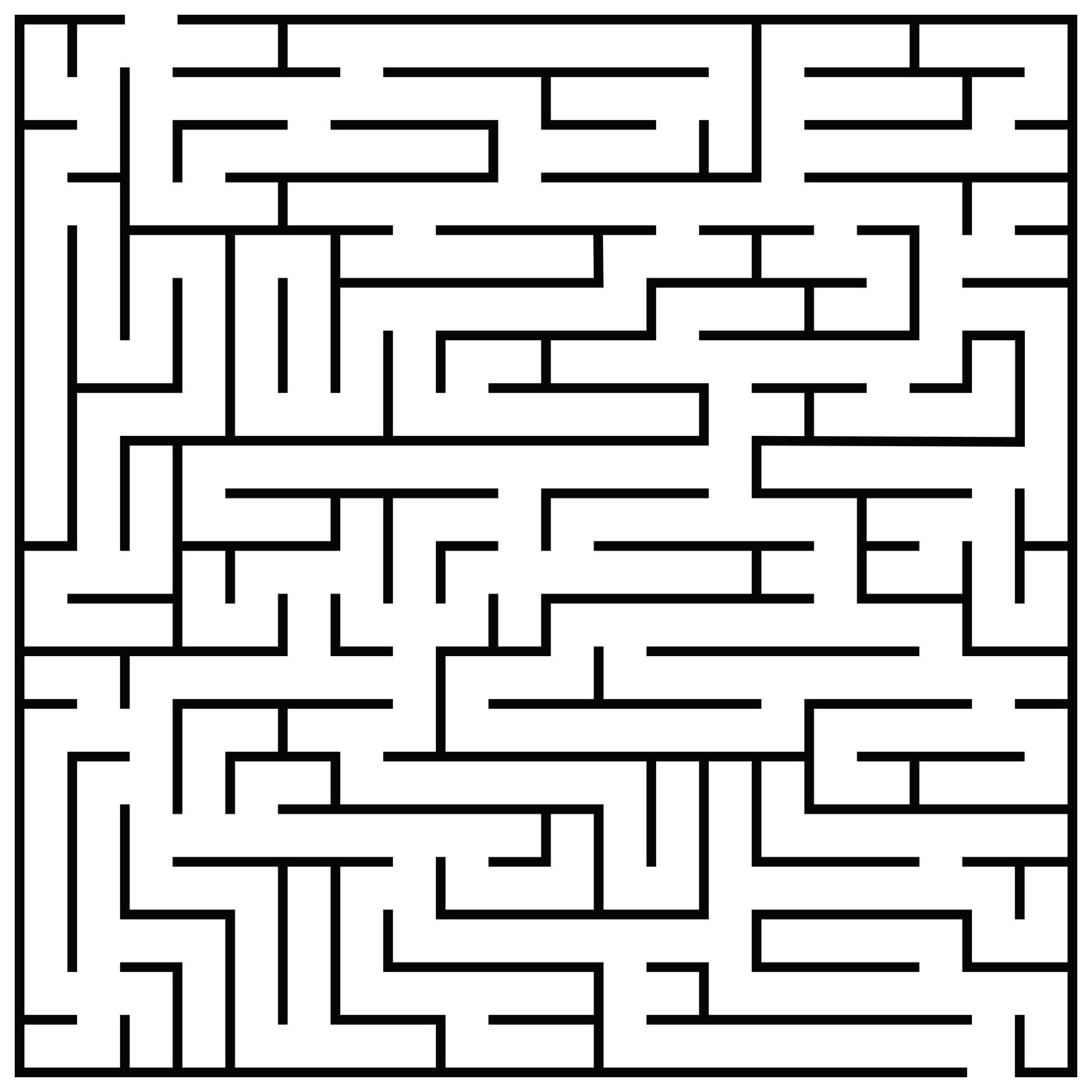 Maze Puzzle Labyrinth Brain Teaser Kids Game Vector Illustration By