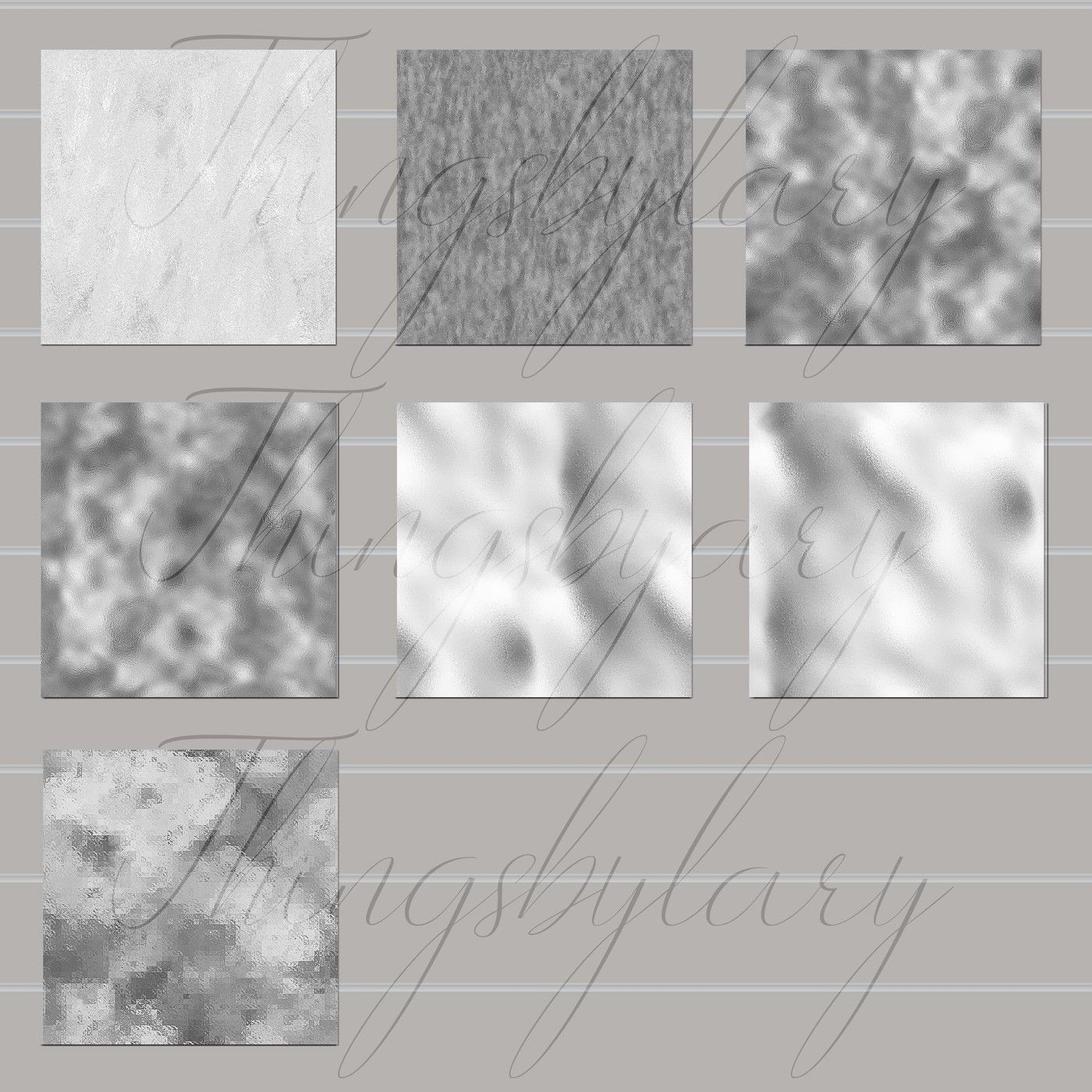 16 Seamless Silver Foil Digital Papers Luxury Foil Printing By