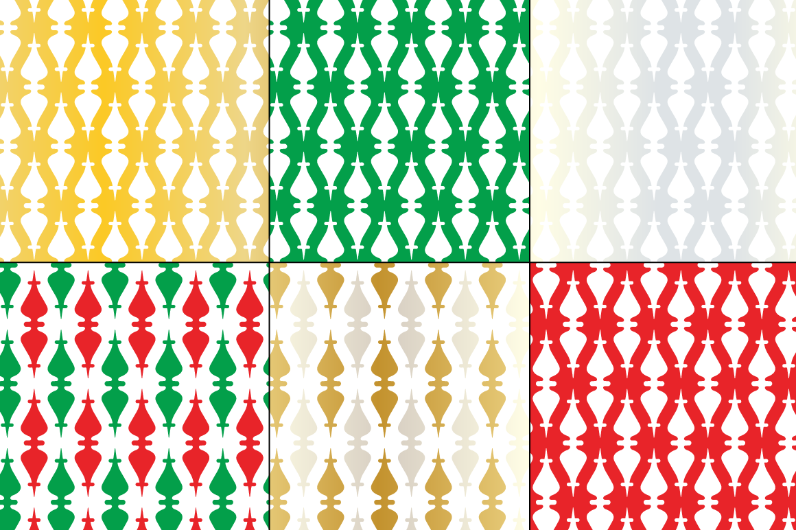 Seamless Christmas Ornament Patterns By Melissa Held Designs
