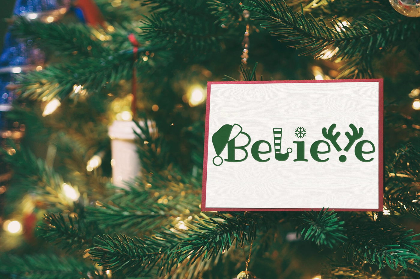 Christmas Believe Word Art Svg Png Dxf By Designed By Geeks