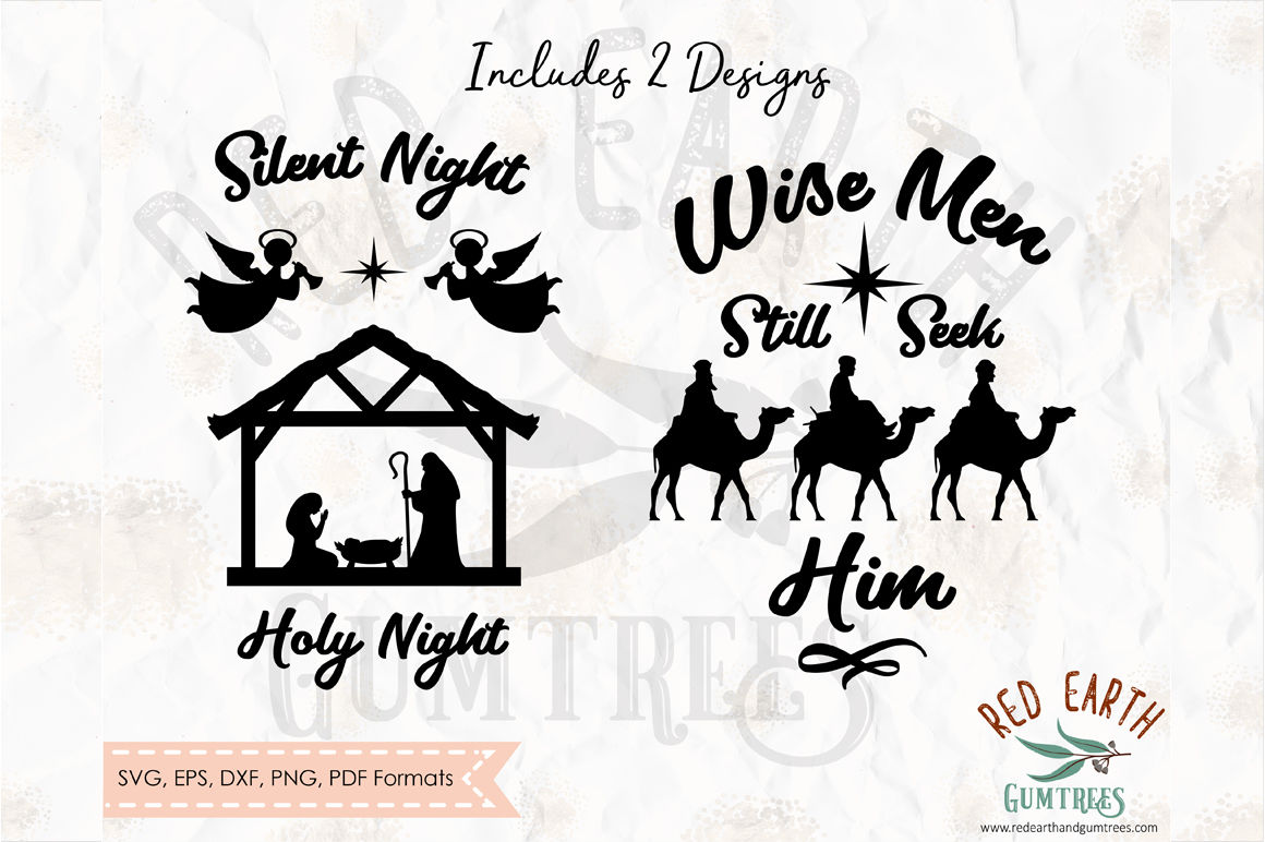 Christmas Nativity Scene And Wise Men In Svg Png Eps Dxf Pdf Formats By Svgbrewerydesigns Thehungryjpeg Com