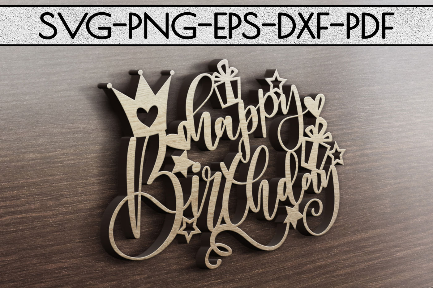 Happy Birthday Svg Cutting File Birthday Card Papercut Dxf Pdf