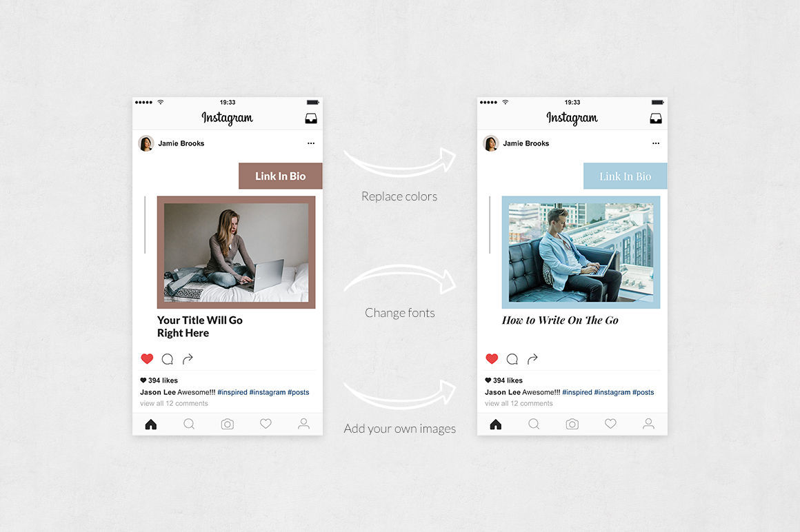 Blog Instagram Posts By Social Corner Graphics Thehungryjpeg Com