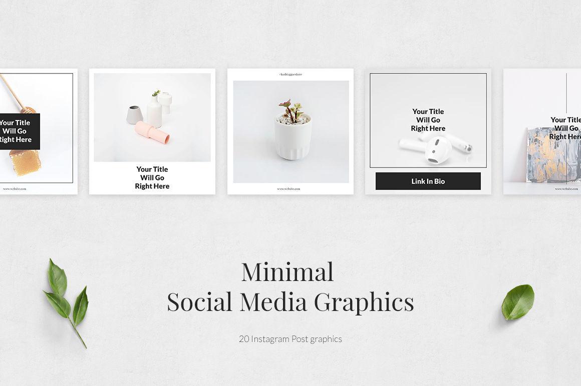 Minimal Instagram Posts By Social Corner Graphics Thehungryjpeg Com