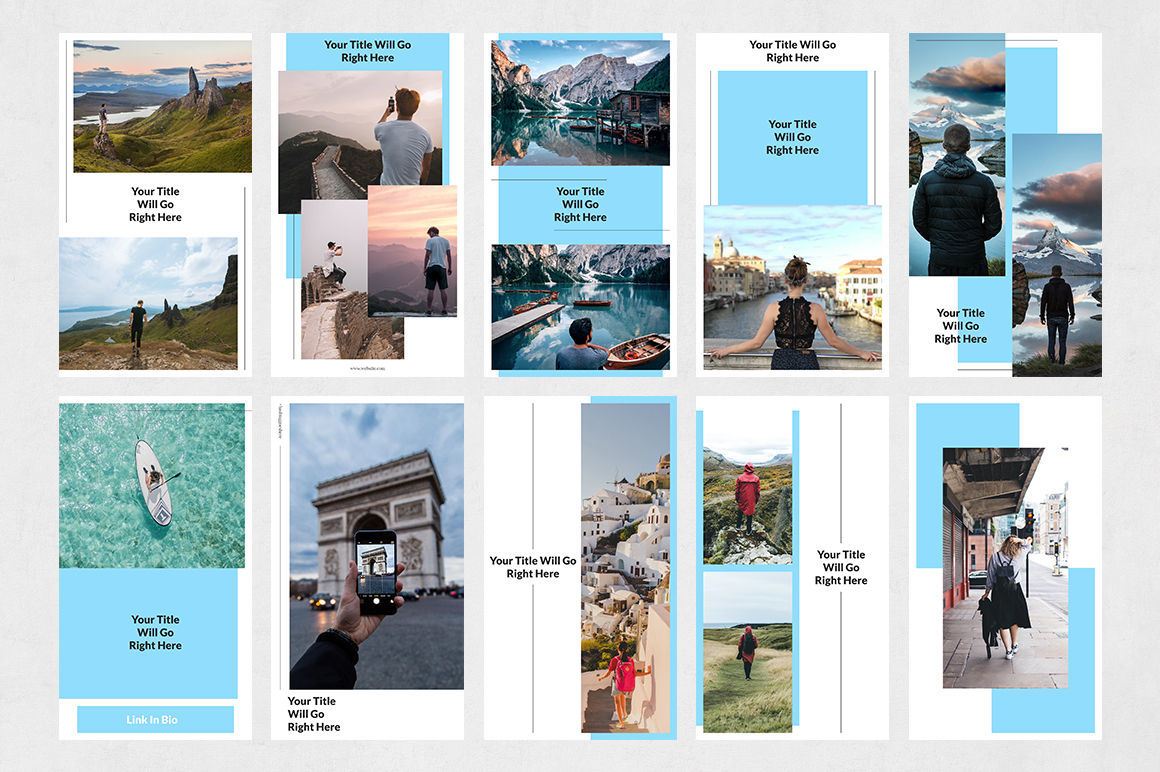 Travel Animated Instagram Stories By Social Corner Graphics