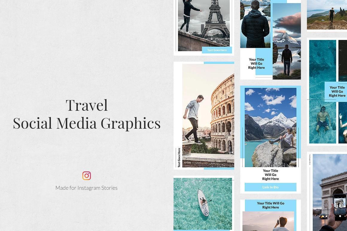 Travel Instagram Stories By Social Corner Graphics Thehungryjpeg Com