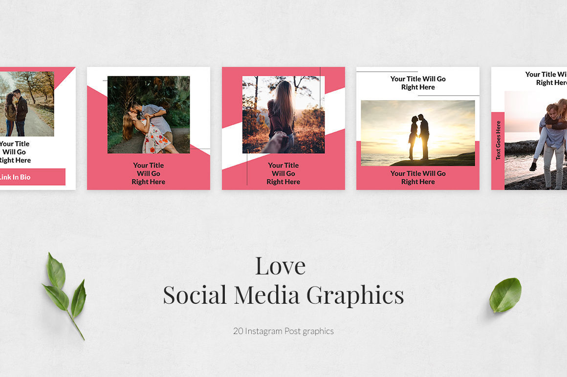 Love Instagram Posts By Social Corner Graphics Thehungryjpeg Com