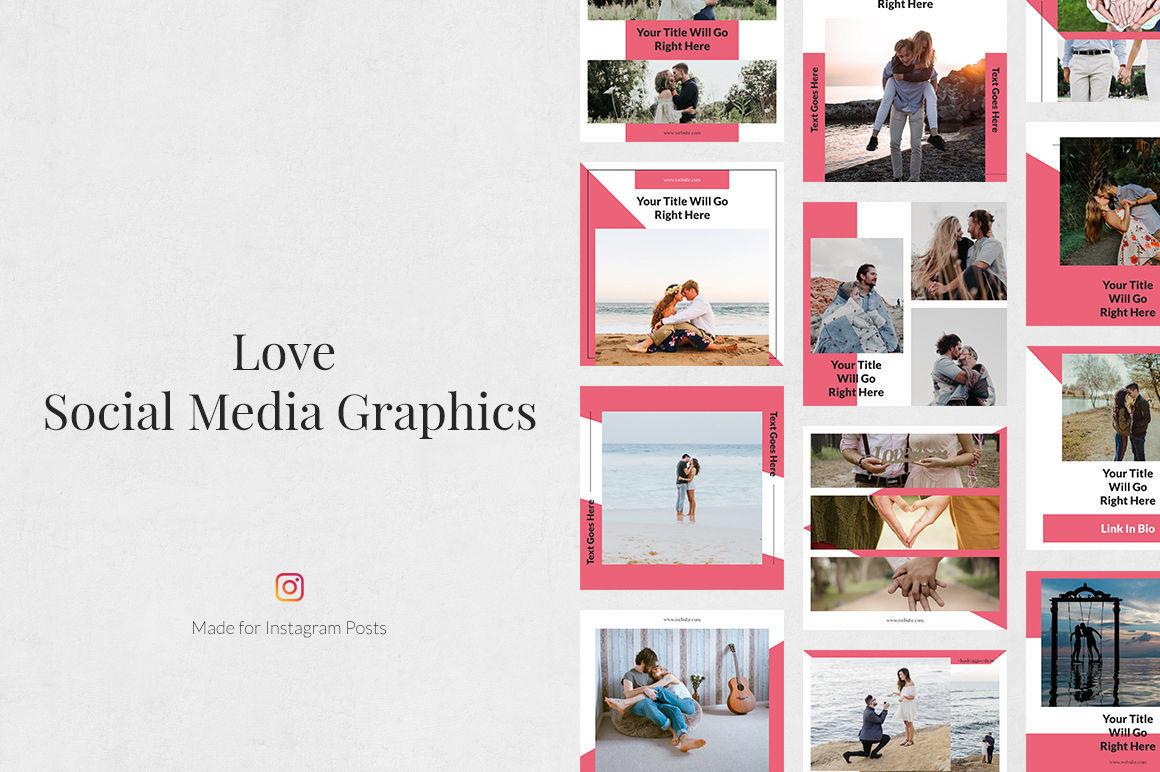 Love Instagram Posts By Social Corner Graphics Thehungryjpeg Com