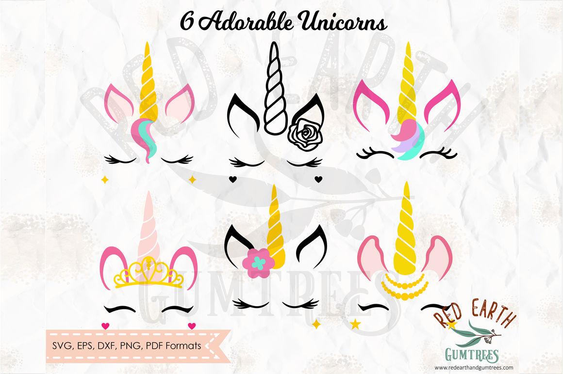 Unicorn Bundle Unicorn With Lashes In Svg Png Eps Dxf Pdf Formats