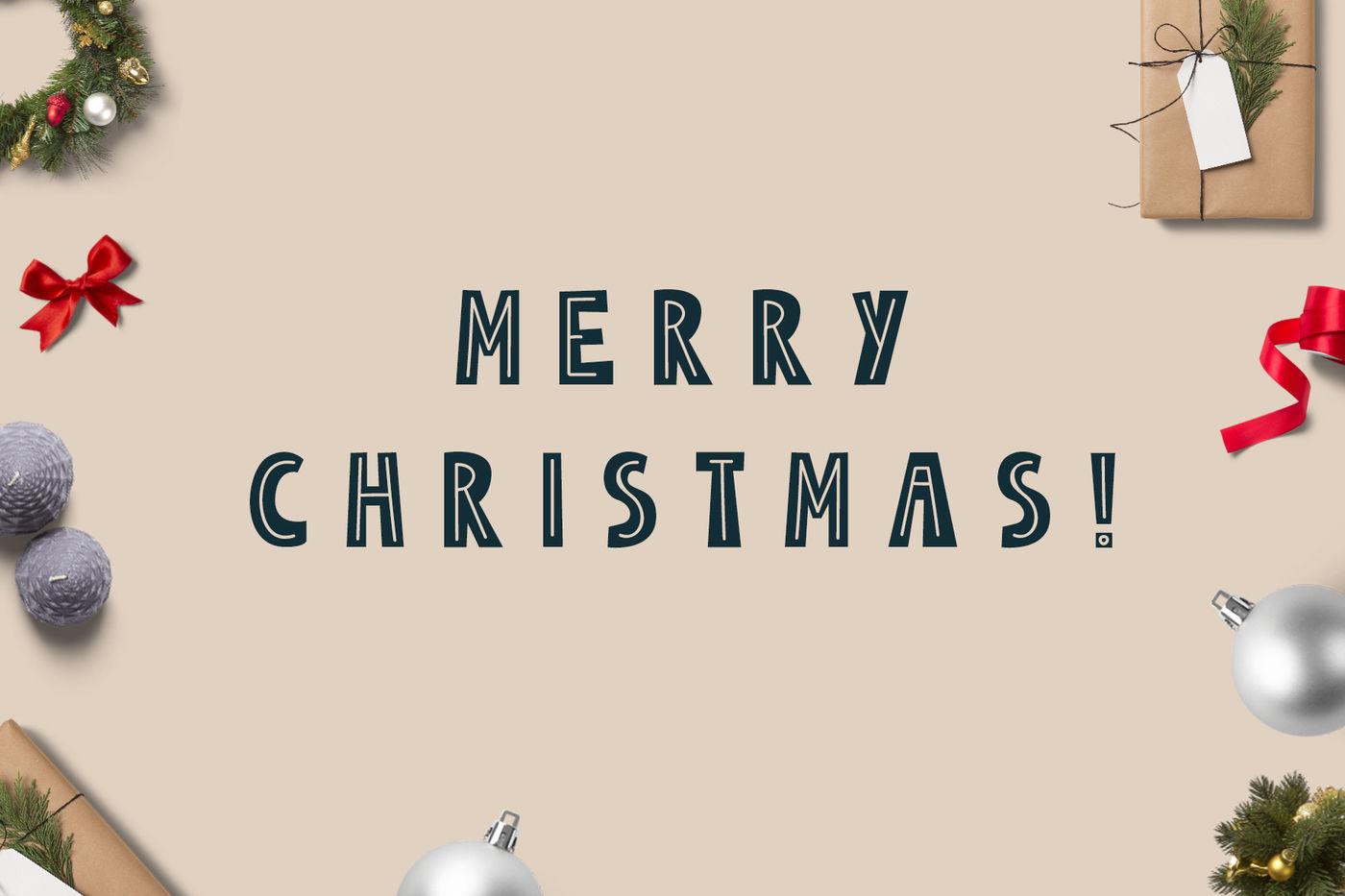 Merry Christmas Scandinavian Set By Juliya Kochkanyan