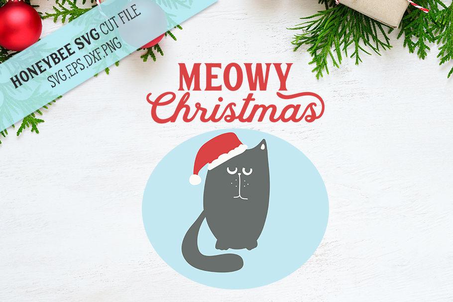 Meowy Christmas Svg Cut File By Honeybee Svg Thehungryjpeg Com