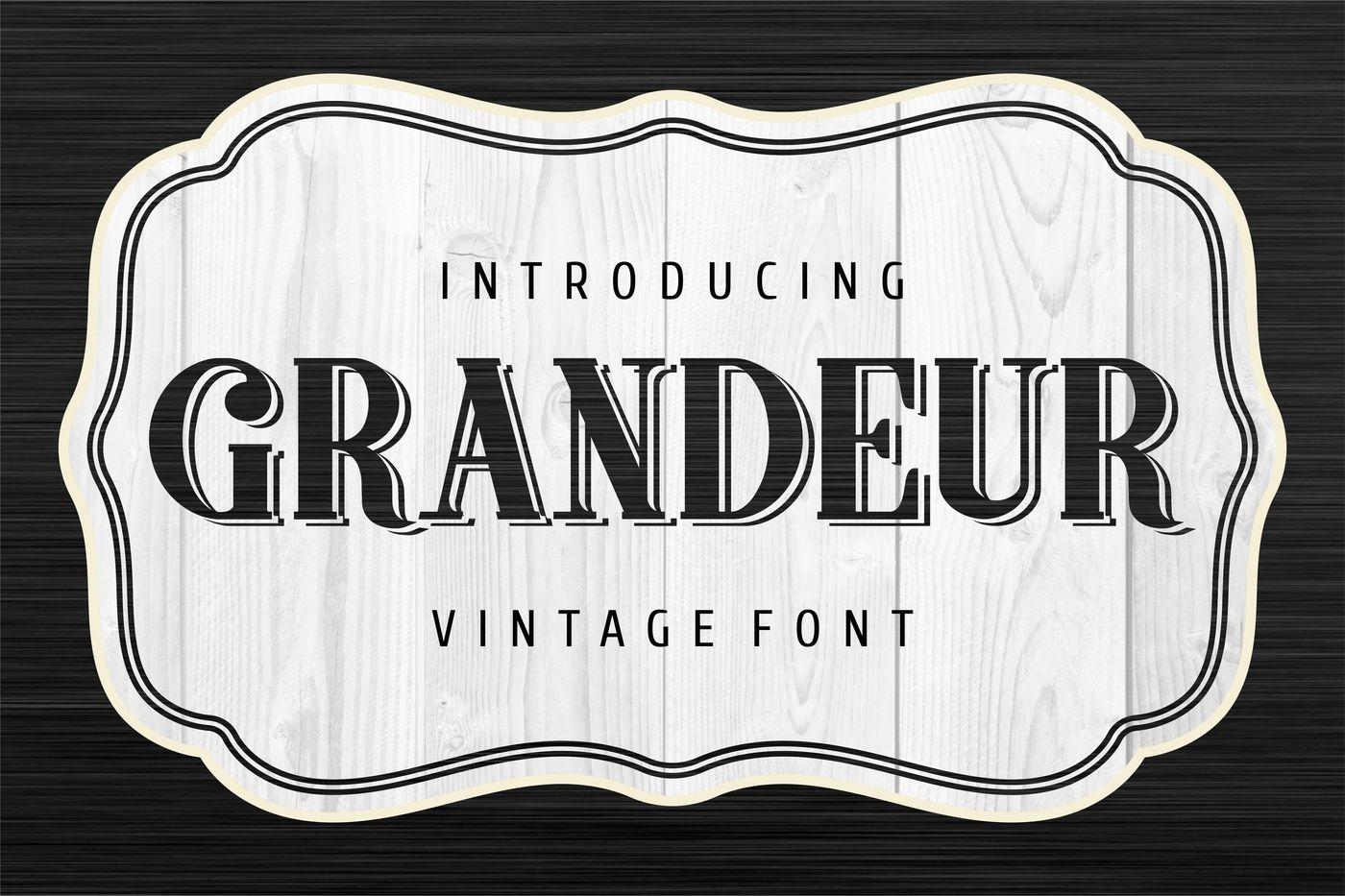 Grandeur New Vintage Font By Vintage Font Lab Thehungryjpeg Com