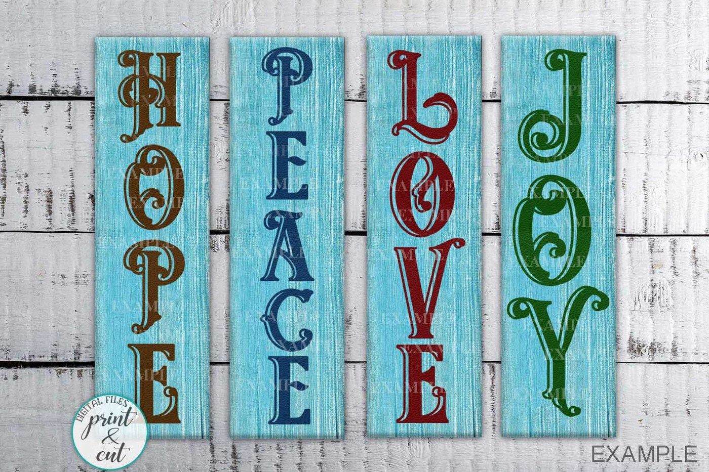 Vertical Christmas Porch Sign Bundle Svg Dxf Cutting Files By