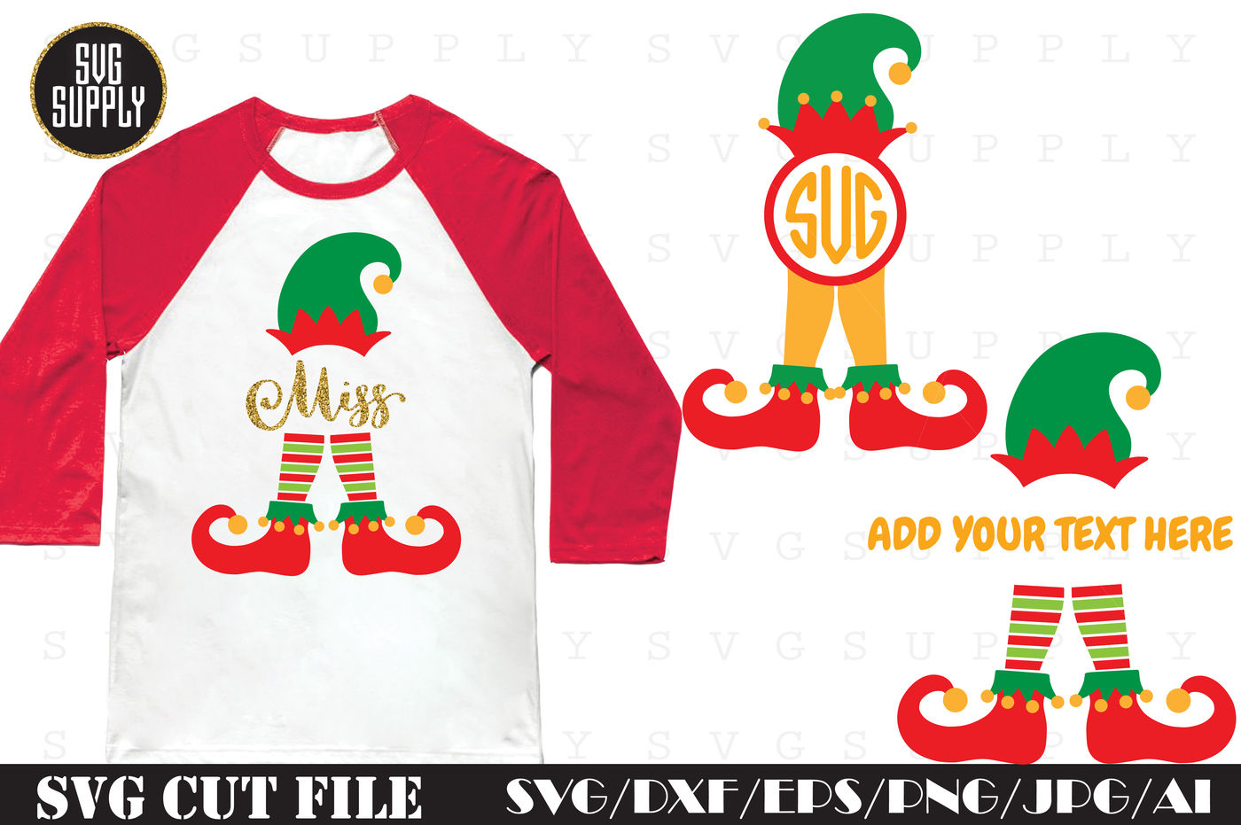 Elf Monogram Svg Cut File By Svgsupply Thehungryjpeg Com
