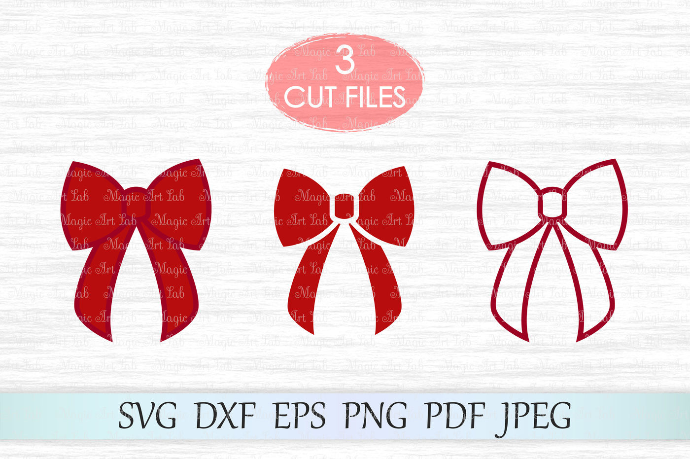 Bow Svg Christmas Bow Svg Ribbon Bow Svg Bows Svg File Red Bow