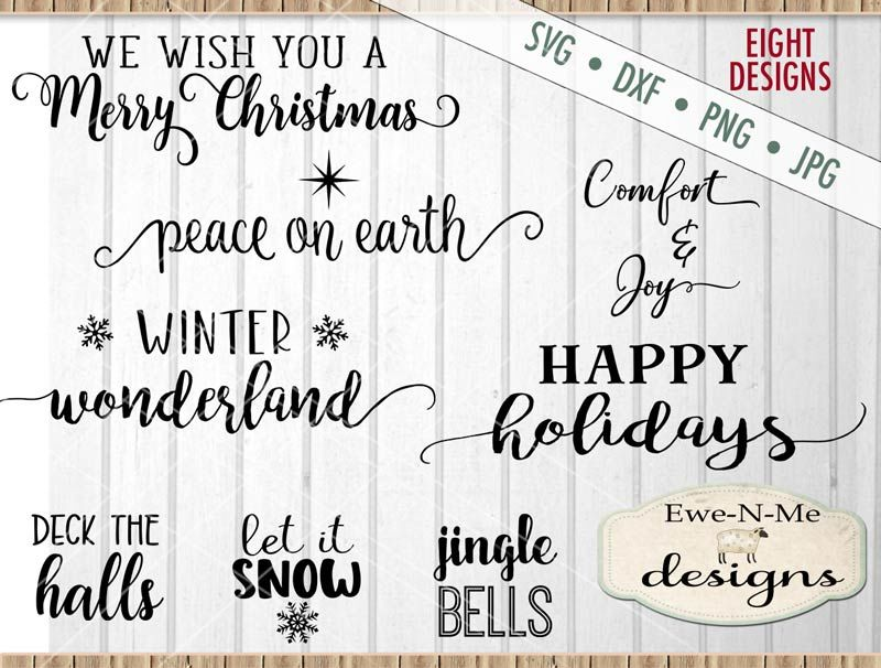 Christmas Joy Bundle Svg By Ewe N Me Designs Thehungryjpeg Com