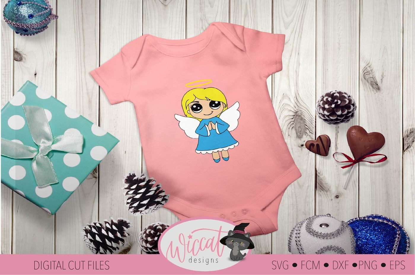 Praying Christmas Angel Kawaii Angel By Wiccatdesigns