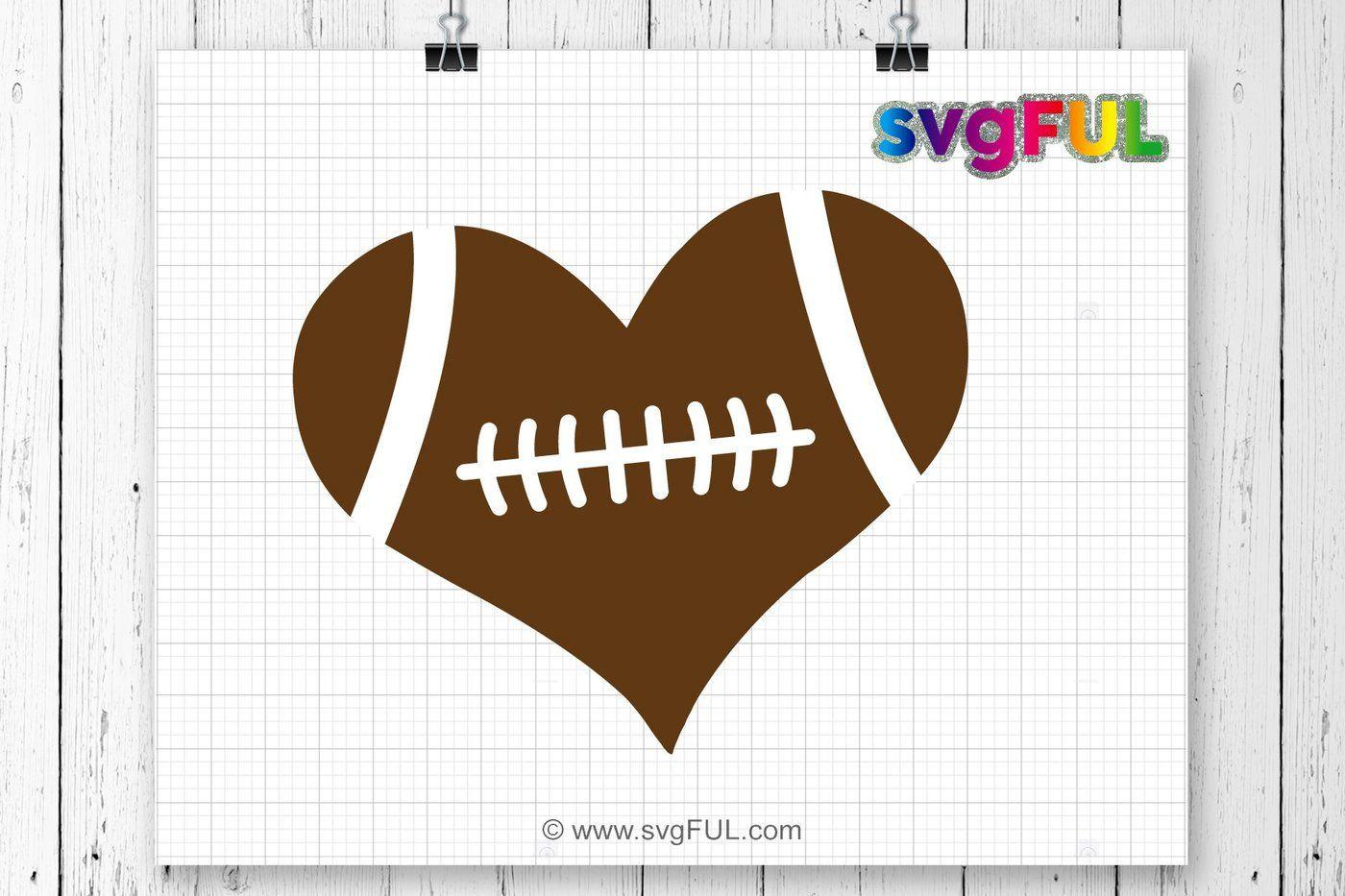 Download Football Heart, Football Love Svg, Football SVG, Football ...