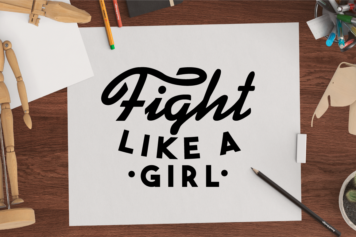 Svg Cut File Fight Like A Girl By Big Design Thehungryjpeg Com