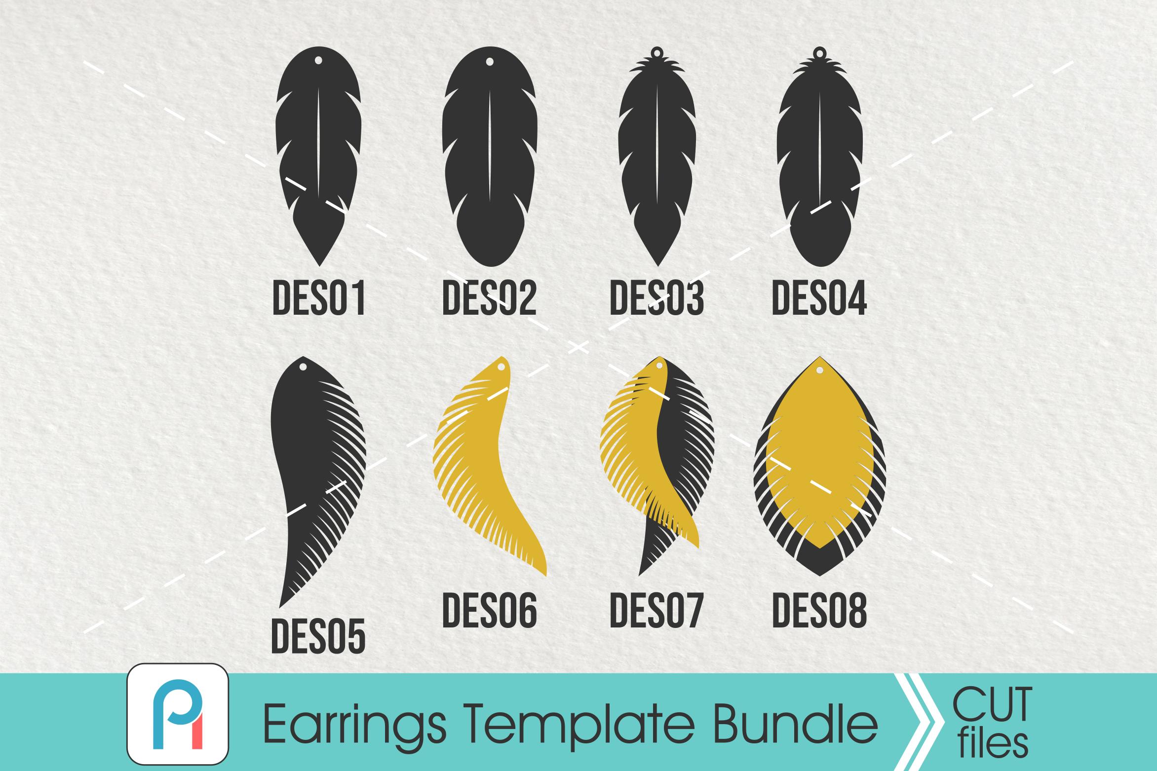 Earrings Template Svg Feather Earrings Svg Leather Earrings Svg