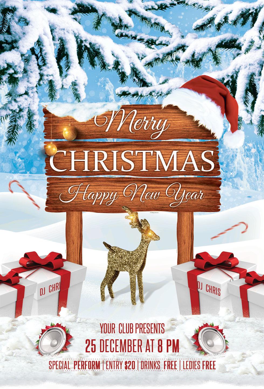 Christmas New Year Party Flyer By Artolus Thehungryjpeg Com