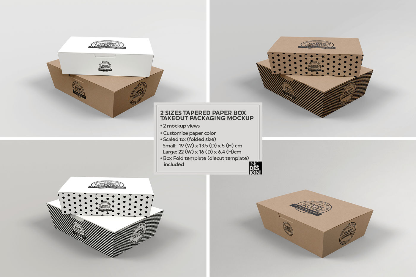Textured Paper Box Mockup Front View
