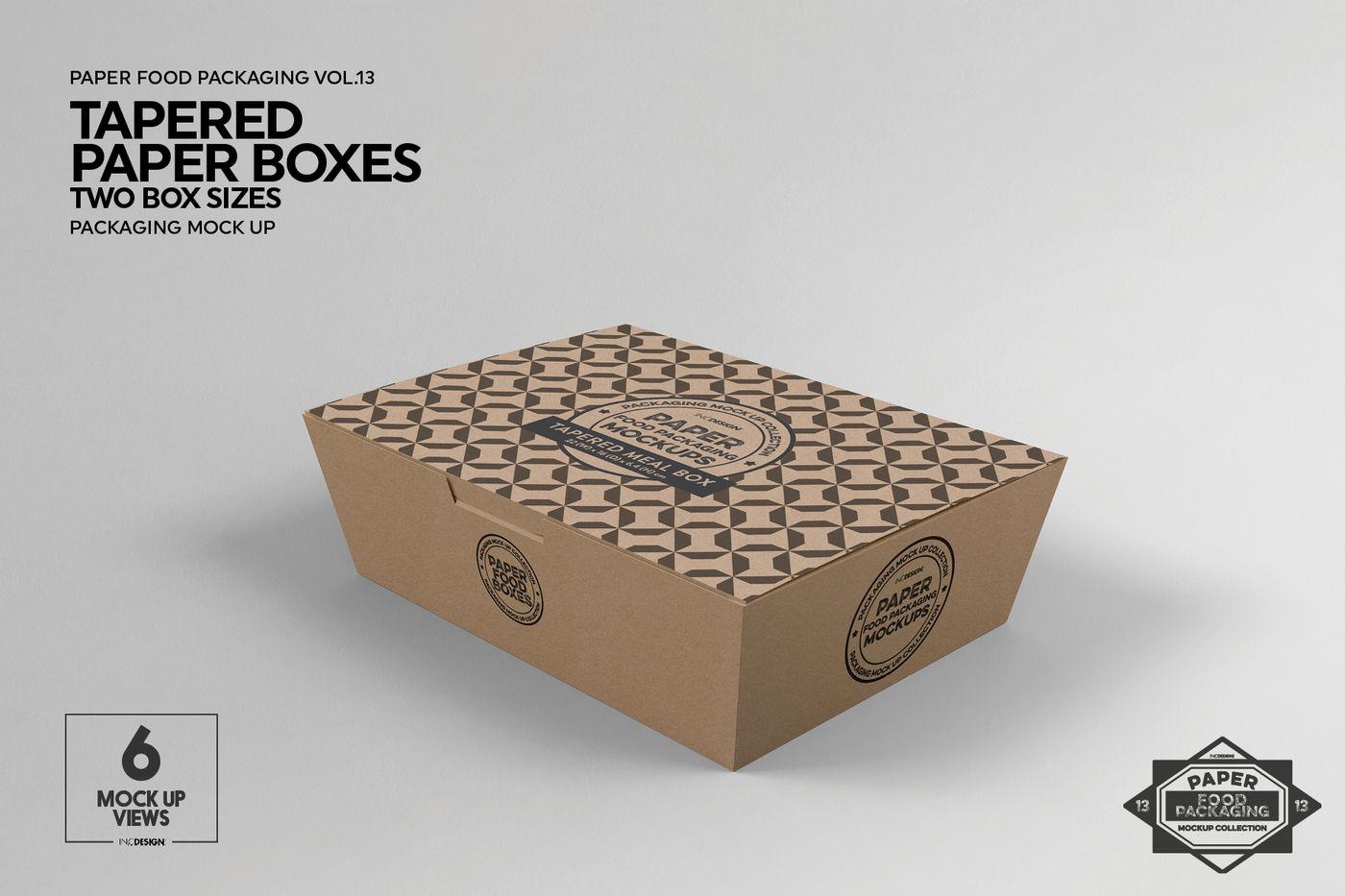 Shopping Cart Paper Boxes Mockup