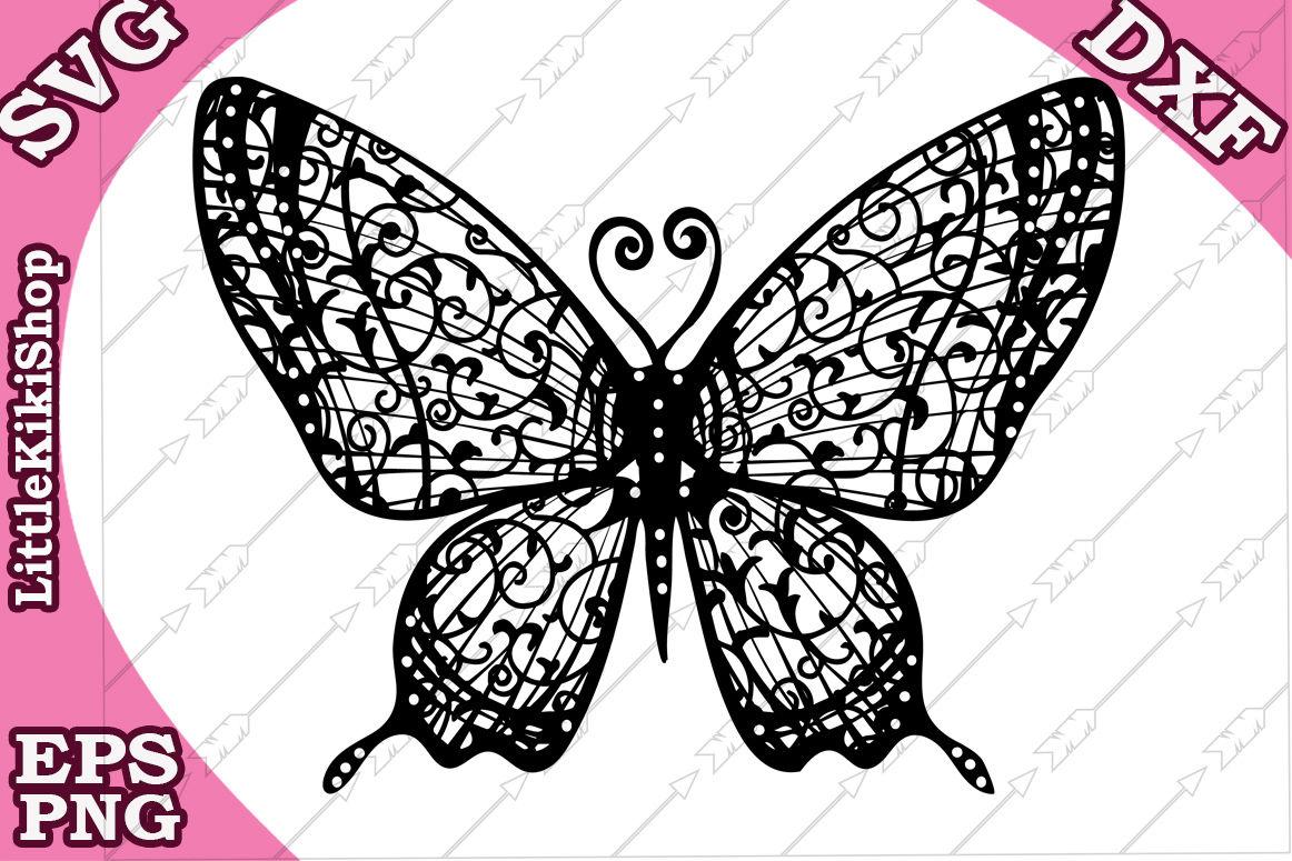 Zentangle Butterfly Svg Mandala Butterfly Butterfly Cut File By