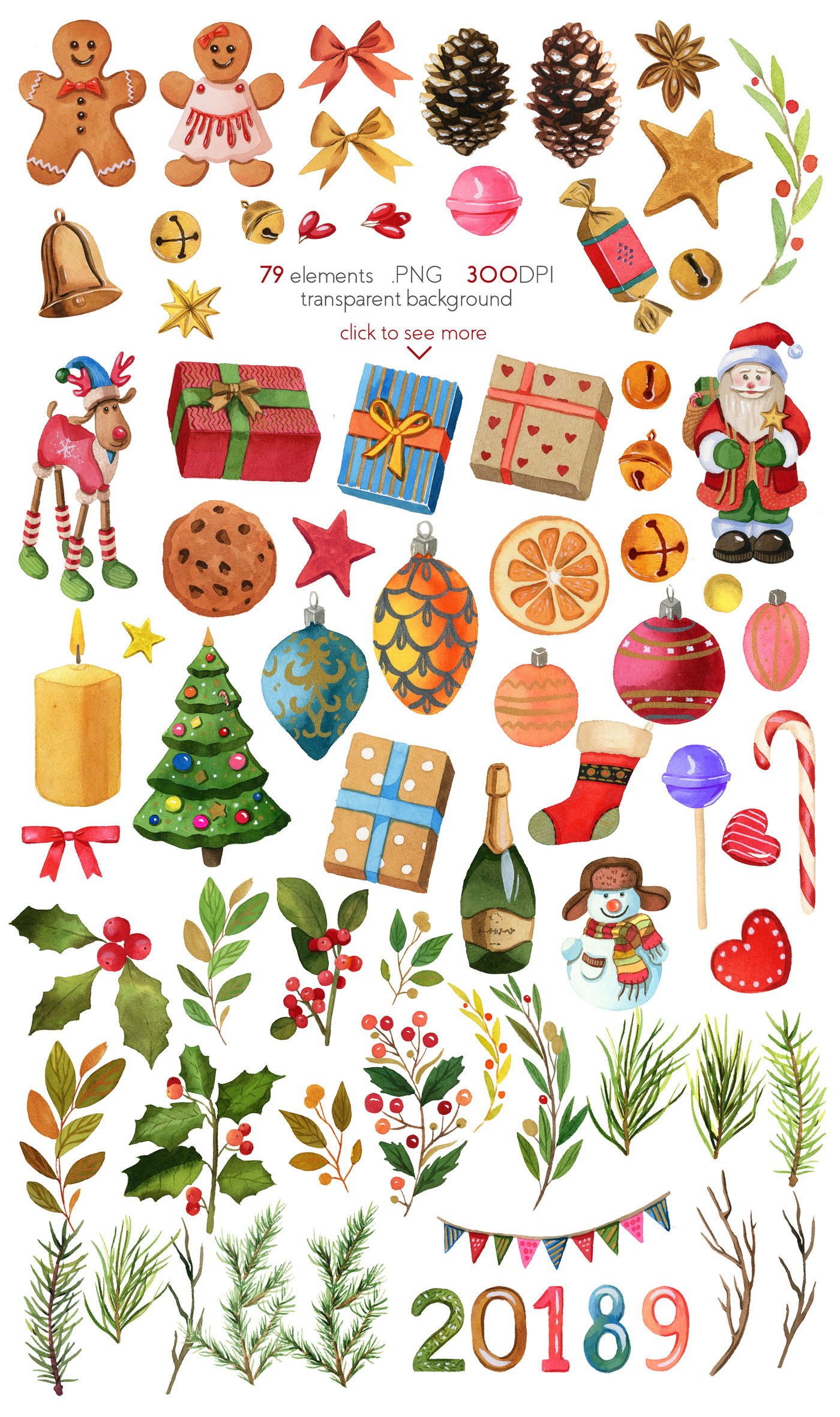 Christmas And New Year Design Tool Kit Clipart By Julia M