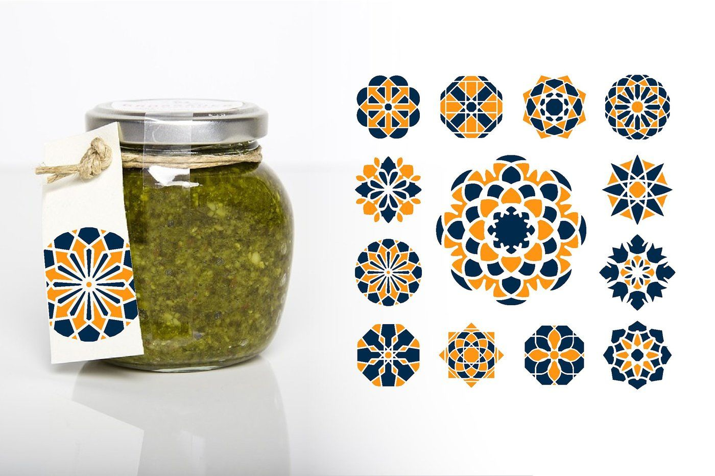 Download Clear Glass Jar With Pesto Sauce Mockup Front View Yellowimages