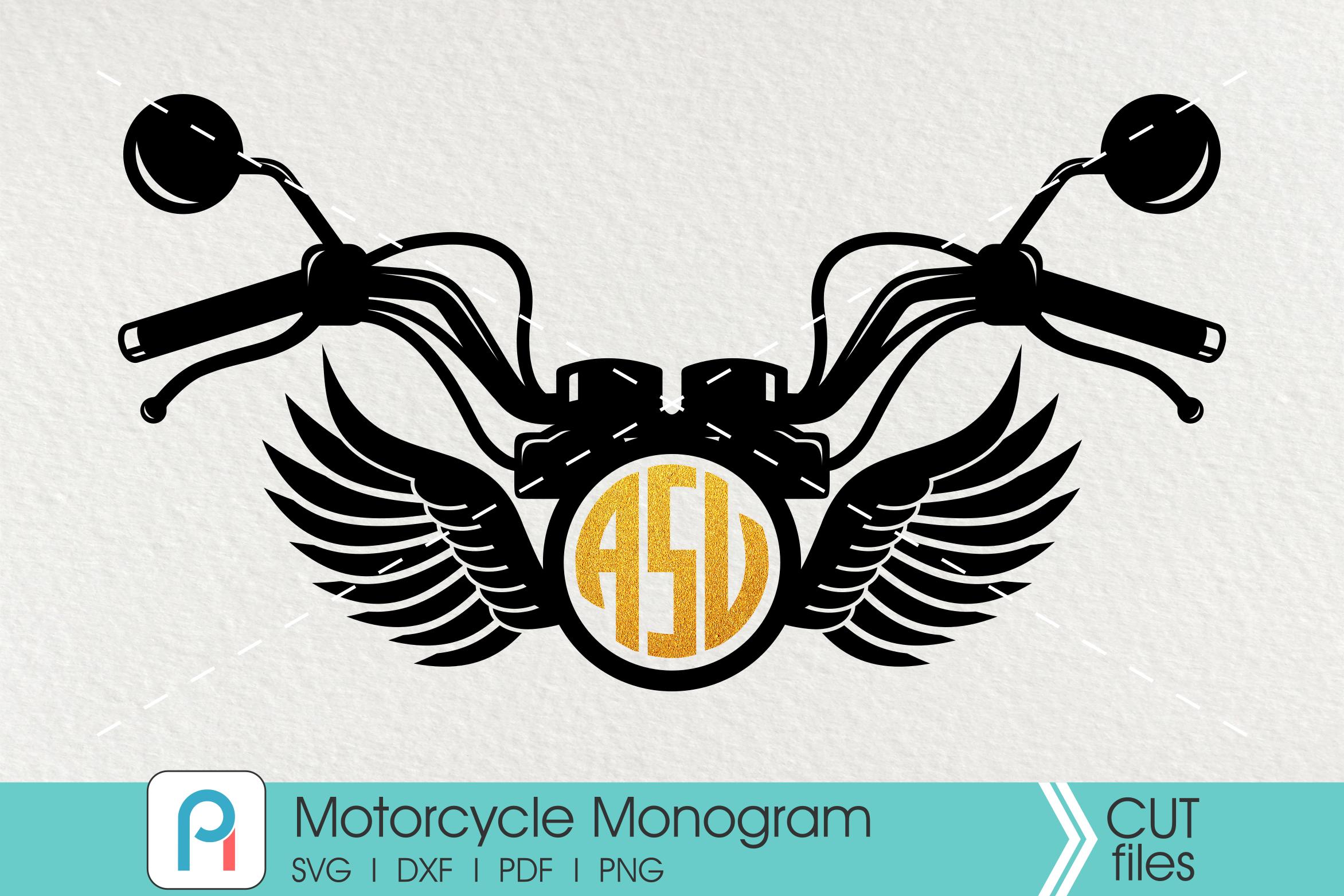 Motorcycle Svg Motorcycle Monogram Svg Rider Svg Monogram Svg