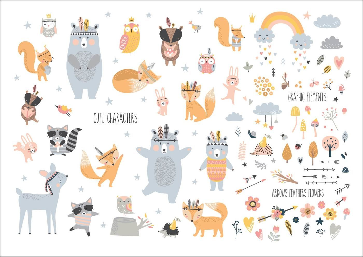 Forest Friends By Angelina De Sol Thehungryjpeg Com