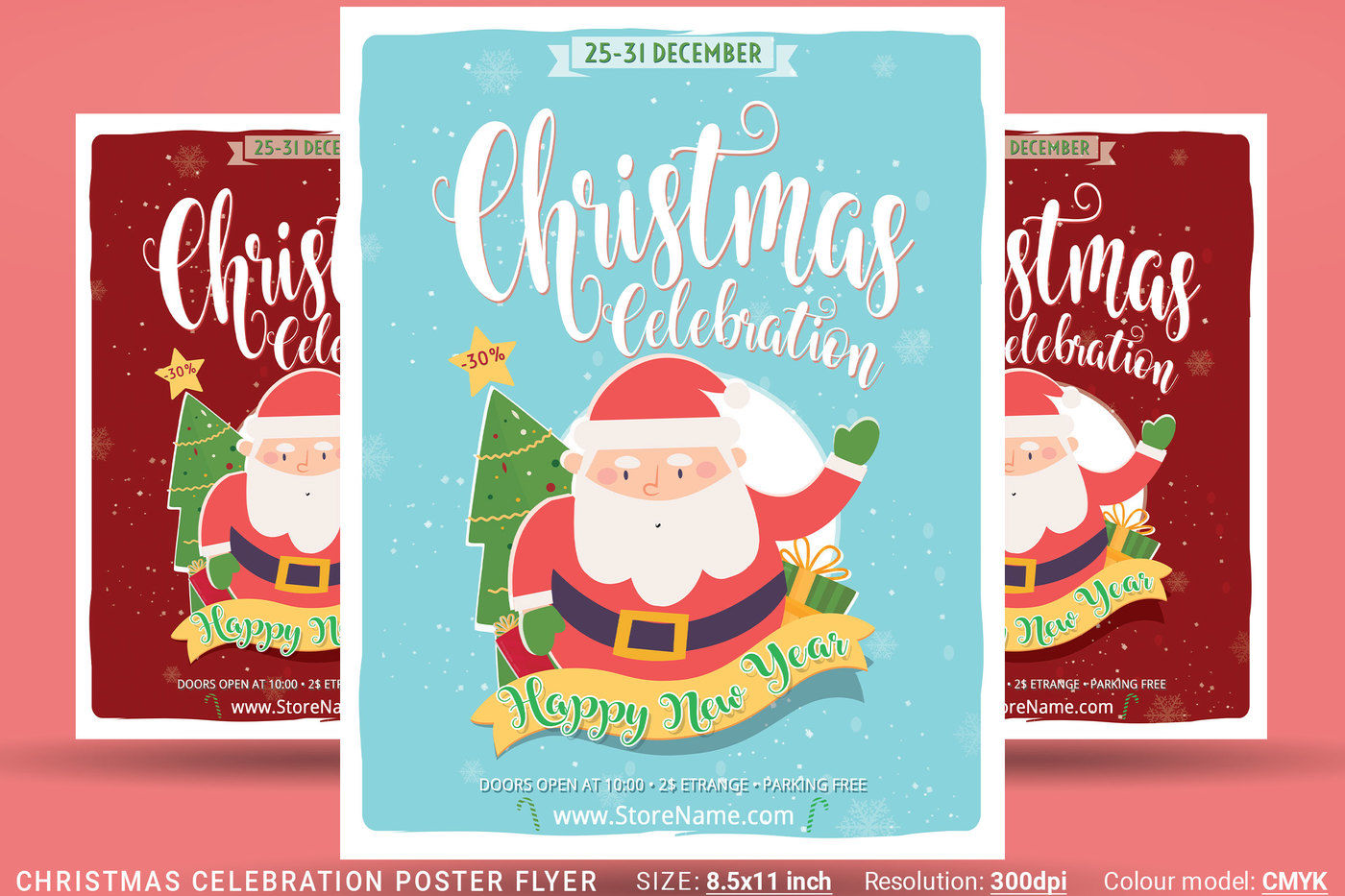 Christmas Celebration Poster Flyer By Artolus Thehungryjpeg Com