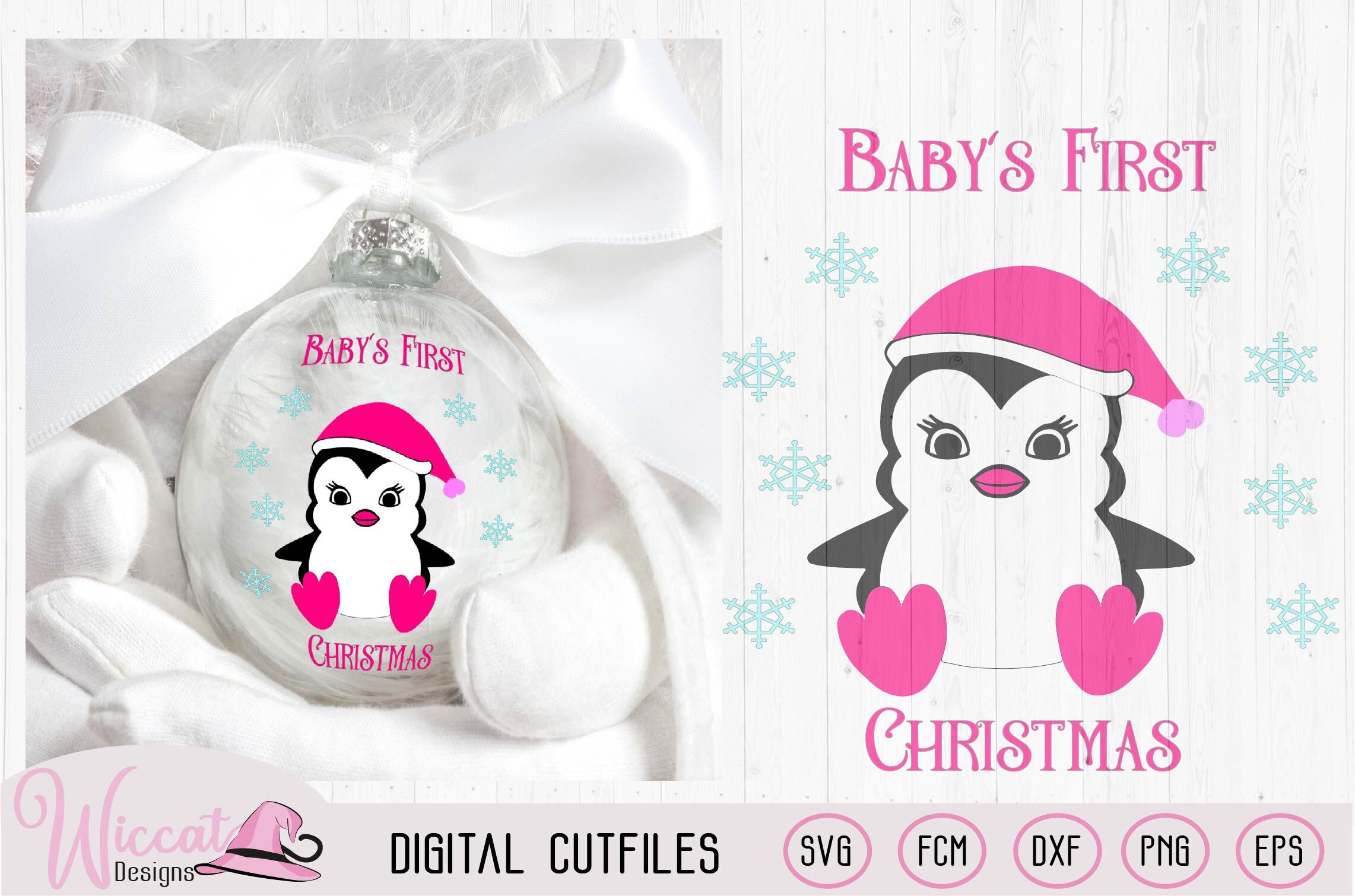 Baby S First Christmas Svg Baby Girl Penguin Svg Vinyl Craft