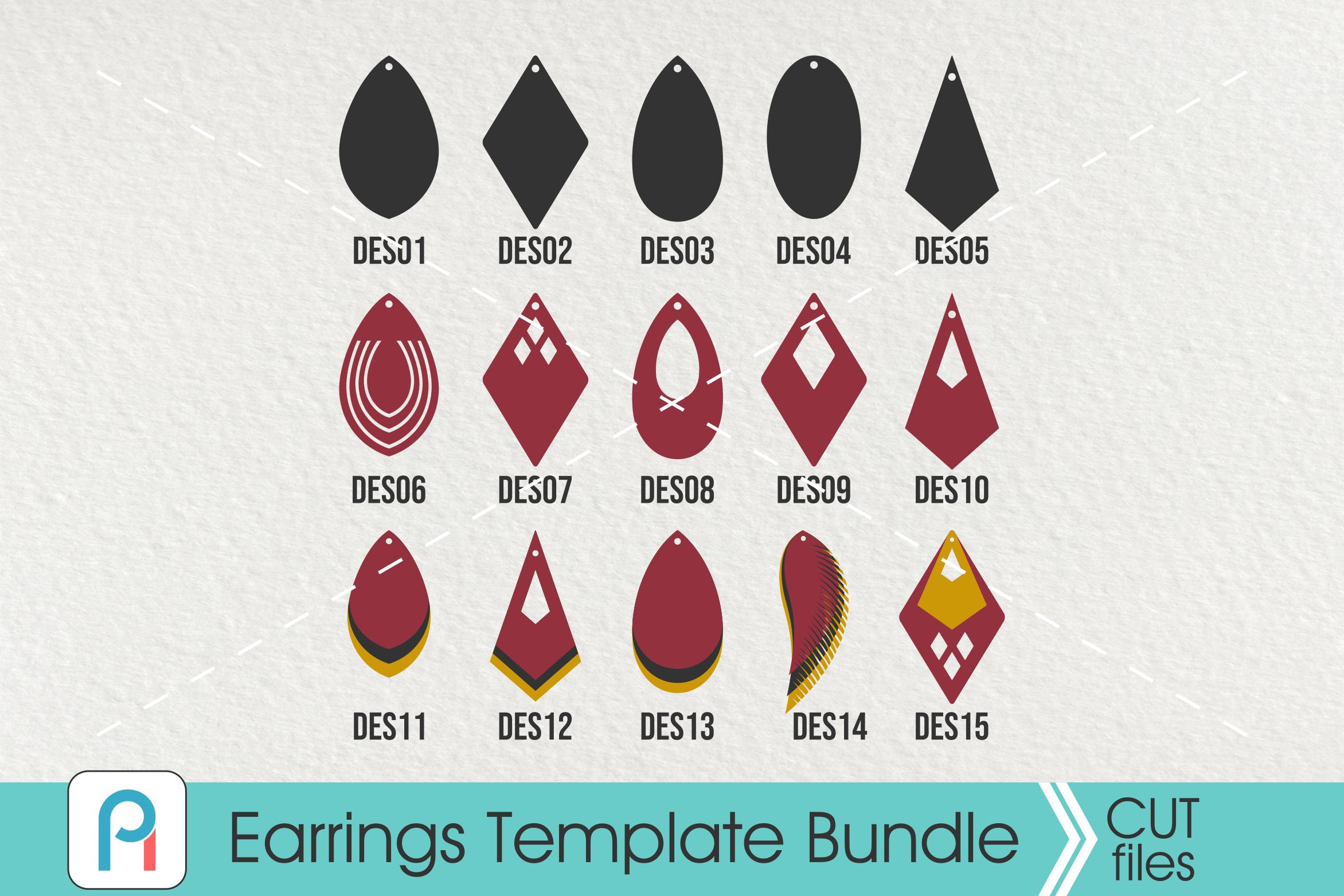Earrings Template Svg Leather Earrings Svg Earrings Pattern Svg